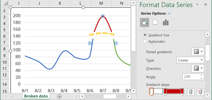 Gradient Fill in Excel 365