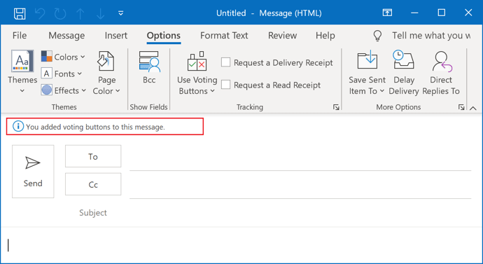 E-mail with voting in Outlook 365