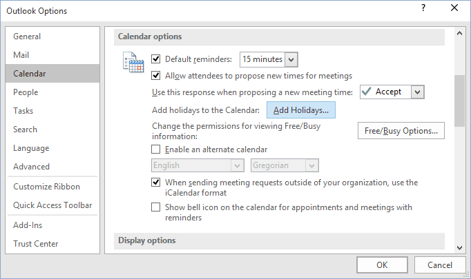 How to add custom holidays to the calendar - Microsoft