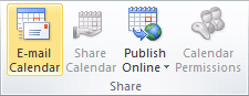 Share group in Outlook 2010