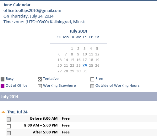 Share calendar in Outlook 2013