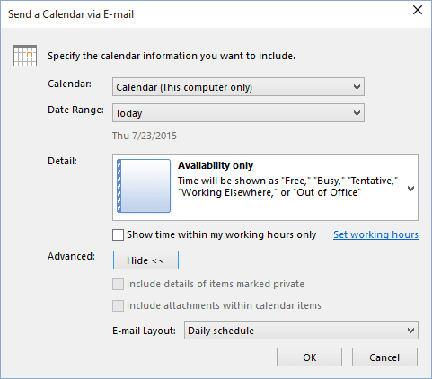 How to share a calendar in Outlook - Microsoft Outlook 2016