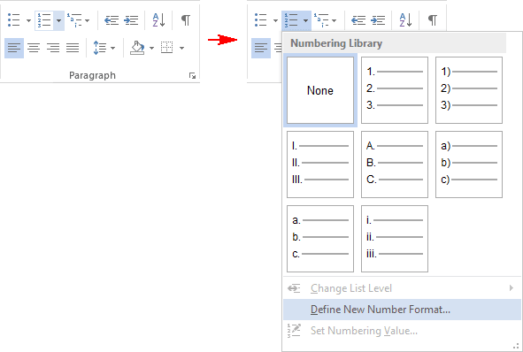 Paragraph in Word 2013