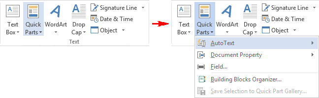 Text in Word 2013