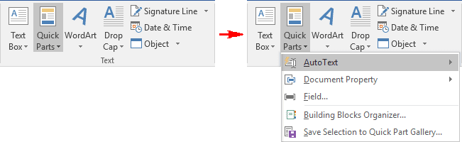 Text in Word 2016