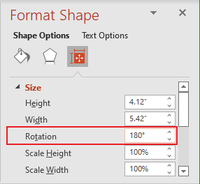 Rotation shape in PowerPoint 365
