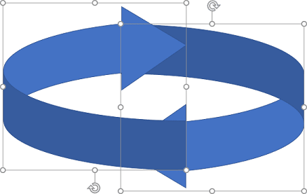 Two circling arrows in PowerPoint 365