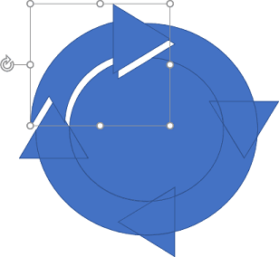 Circling arrow in PowerPoint 365