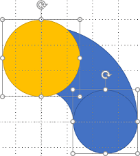Two oval shapes in PowerPoint 365