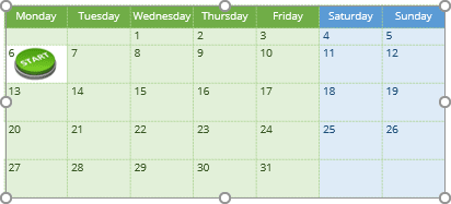 Calendar with picture in PowerPoint 365