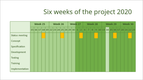 Calendar multi-week in PowerPoint 365