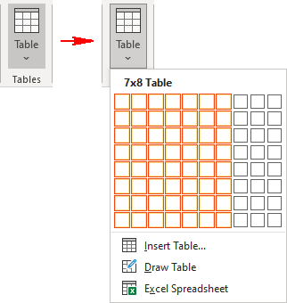Insert Table list in PowerPoint 365