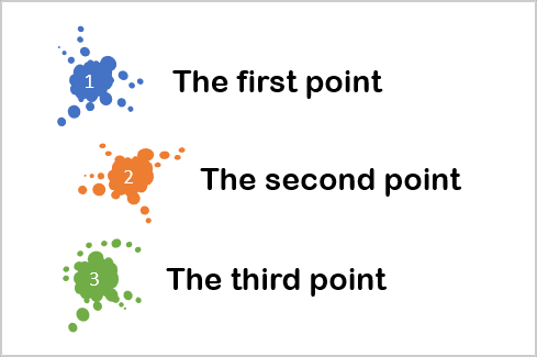 Blots for numbering in PowerPoint 365