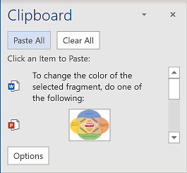 Paste All in Office 365