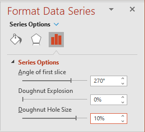 Doughnut Hole Size in PowerPoint 365