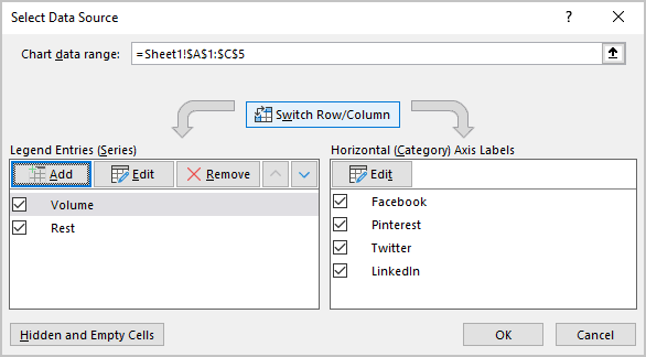Select Data Source in PowerPoint 365