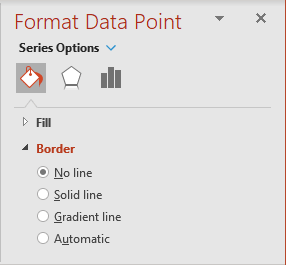 Choose no border in PowerPoint 365
