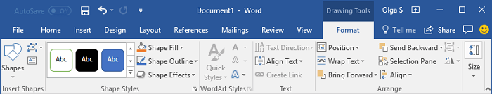 How To Change Format Of Diagram Shapes In Word Microsoft Word 2016
