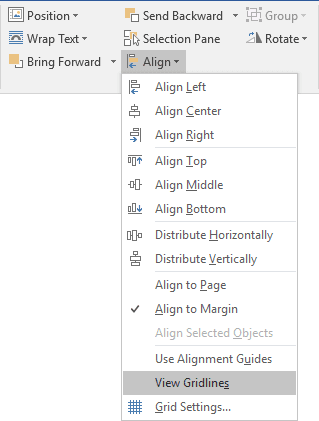 Easily organize shapes in Word - Microsoft Word 2016
