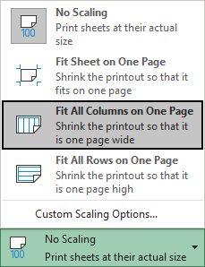 Fit All Columns on One Page in Excel 365