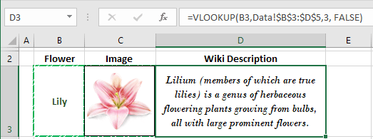 Drop-down list with linked images in Excel 2016