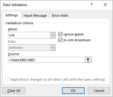Data Validation in Excel for Microsoft 365