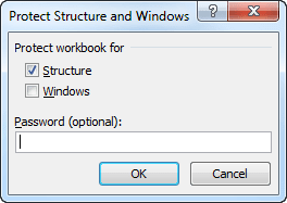 Protect Workbook in Excel 2010
