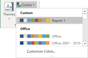 Custom colors for chart in Excel 365