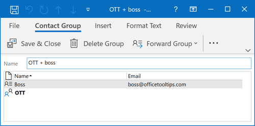 The bigger Contact Group in Outlook 365