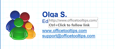 Ctrl+Click to follow link in Outlook 365