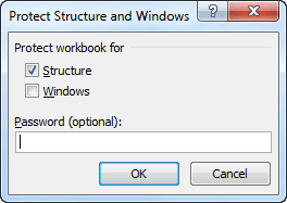 Protect Structure and Windows in Excel 2010