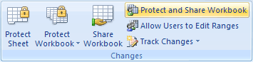 Protect and Share Workbook in Excel 2007