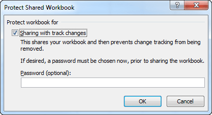 Protect Shared Workbook in Excel 2010