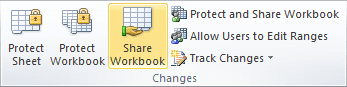 Share Workbook in Excel 2010