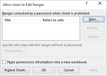 Allow Specific Users To Edit Ranges In A Protected