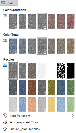 Recolor in PowerPoint 365