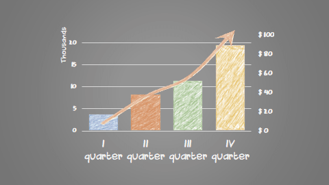 Chart with chalk effect in PowerPoint 365