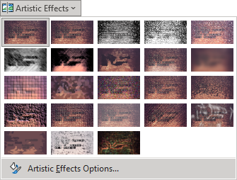 Artistic Effect options in PowerPoint 365