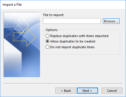 File to import in Outlook 365