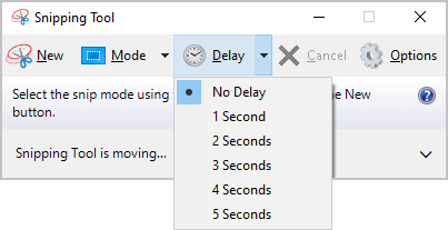 Snipping Tool delays in Windows 10
