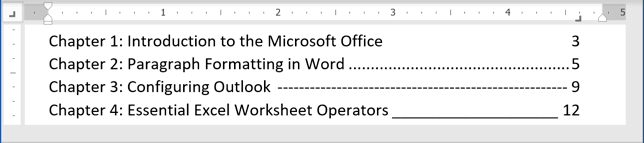special types of text in Word 365