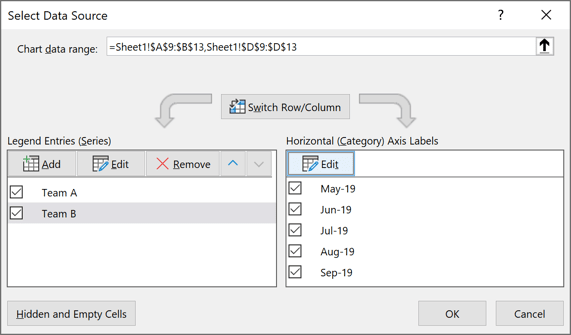Select Data Source in Excel 365