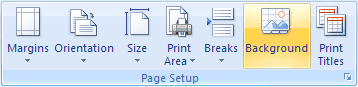 Page Setup in Excel 2007