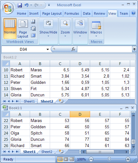 New window in Excel 2007