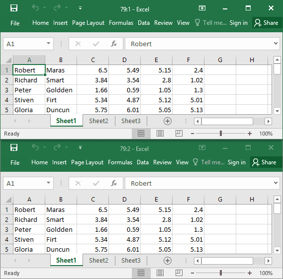 New window in Excel 2016