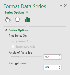 Series Options in Excel 2016
