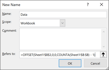 New name in Excel 365