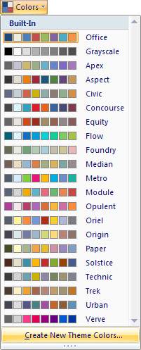 Colors in Excel 2007