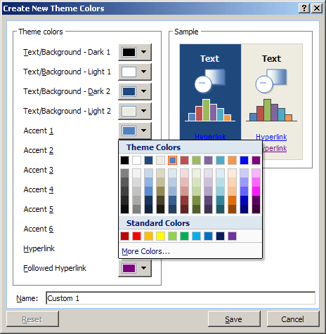 New Color in Excel 2007