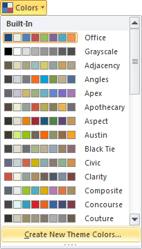 Colors in Excel 2010